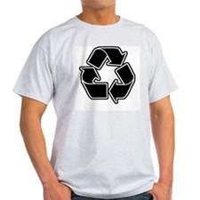 Graphic Recycle Symbol: Black Ash Grey T-Shirt