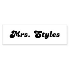 Mrs. Styles Bumper Bumper Sticker