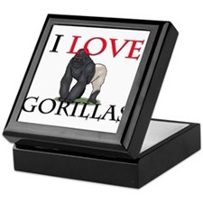 I Love Gorillas Keepsake Box