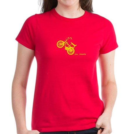 Bicycle Wheelie Women's Dark T-Shirt