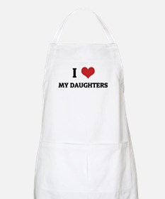 I Love My Daughters BBQ Apron