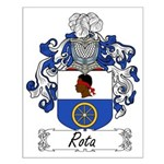 Rota Family Crest Small Poster