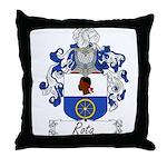 Rota Family Crest Throw Pillow