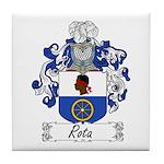 Rota Family Crest Tile Coaster