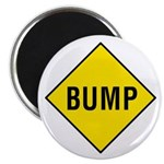 """Yellow Bump Sign - 2.25"""" Magnet (10 pack)"""