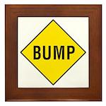 Yellow Bump Sign - Framed Tile