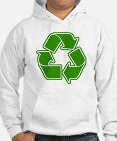 Graphic Recycle Symbol: Green Hoodie