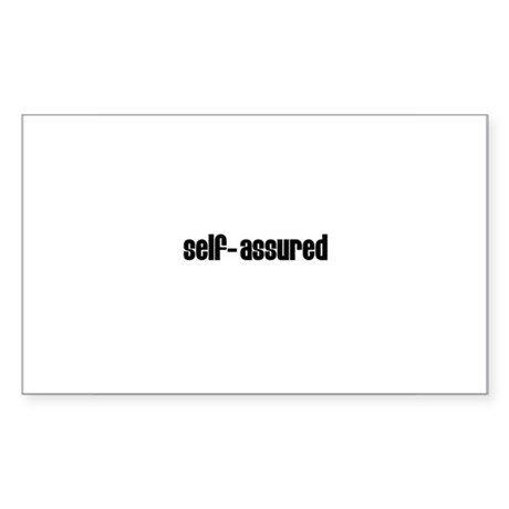 Self-assured Rectangle Sticker