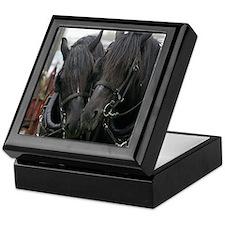 Percheron Draft Horses Keepsake Box