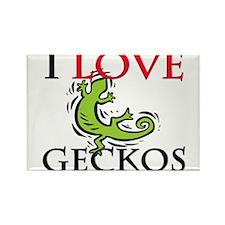 I Love Geckos Rectangle Magnet