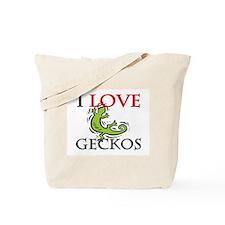 I Love Geckos Tote Bag