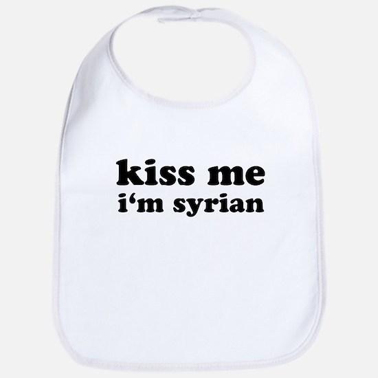 KISS ME I'M SYRIAN Bib