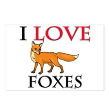 I Love Foxes Postcards (Package of 8)