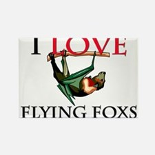 I Love Flying Foxs Rectangle Magnet