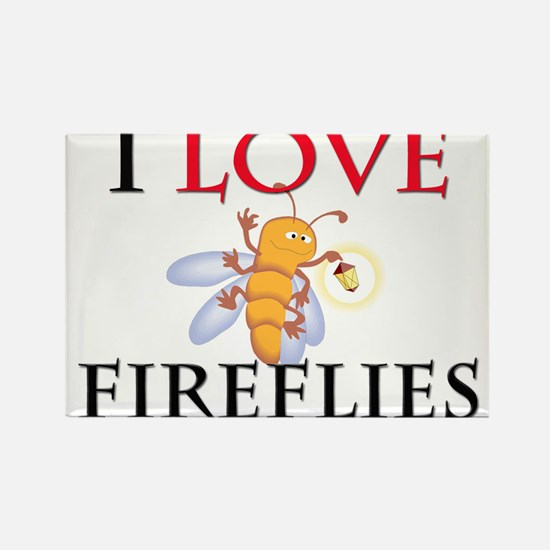 I Love Fireflies Rectangle Magnet