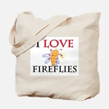 I Love Fireflies Tote Bag