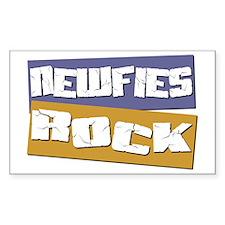 Newfies ROCK Rectangle Decal