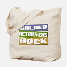 Golden Retrievers ROCK Tote Bag