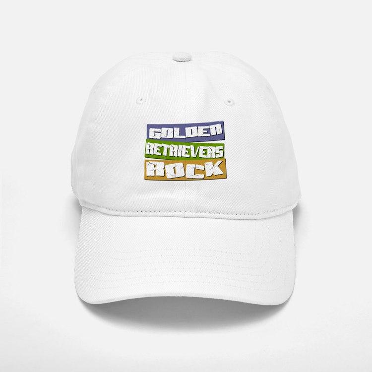 Golden Retrievers ROCK Baseball Baseball Cap