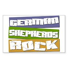 German Shepherds ROCK Rectangle Decal