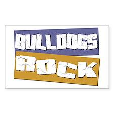 Bulldogs ROCK Rectangle Decal