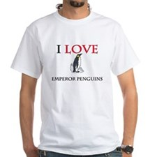 I Love Emperor Penguins White T-Shirt