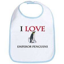 I Love Emperor Penguins Bib