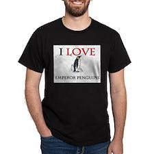 I Love Emperor Penguins Dark T-Shirt
