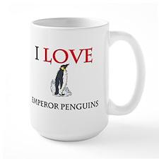 I Love Emperor Penguins Large Mug