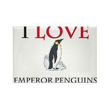 I Love Emperor Penguins Rectangle Magnet