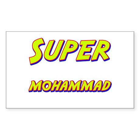Super mohammad Rectangle Sticker