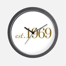 Est. 1969 (40th Birthday) Wall Clock