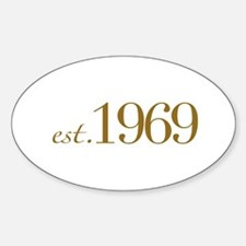 Est. 1969 (40th Birthday) Oval Decal