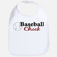Baseball Chick Bib