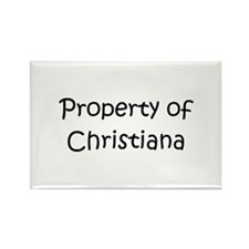 Unique Christiana Rectangle Magnet
