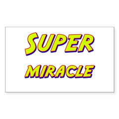 Super miracle Rectangle Decal