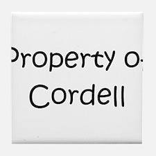 Cool Cordell Tile Coaster