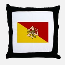 Sicilian Flag Throw Pillow