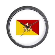 Sicilian Flag Wall Clock