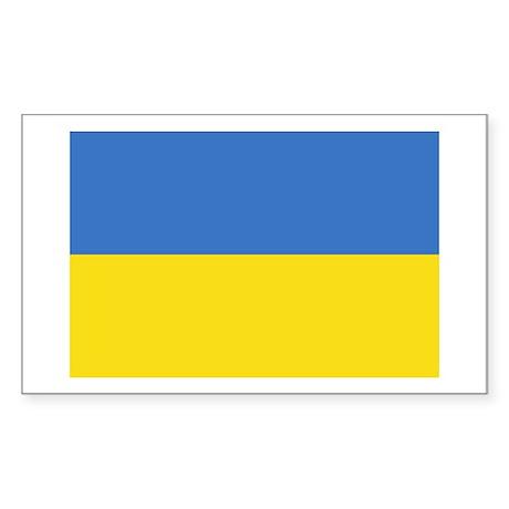 Flag of Ukraine Rectangle Sticker