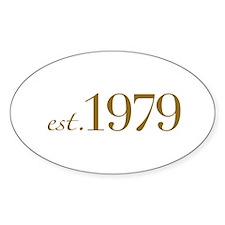 Est. 1979 (30th Birthday) Oval Decal