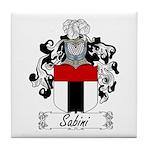 Sabini Family Crest Tile Coaster
