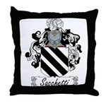 Sacchetti Family Crest Throw Pillow