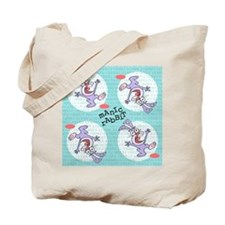 Manic Rabbit patterned design Canvas Tote