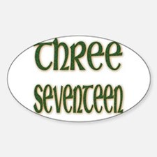 Patrick 3:17 Oval Decal