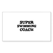 SUPER SWIMMING COACH Rectangle Decal
