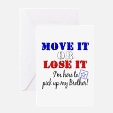 Army Move it pick up brother Greeting Card