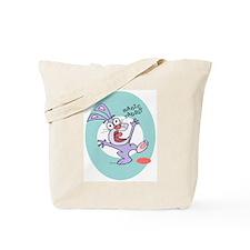 Spotlighted Manic Rabbit canvas tote bag