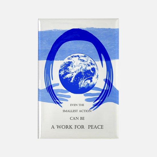 Work for Peace Rectangle Magnet