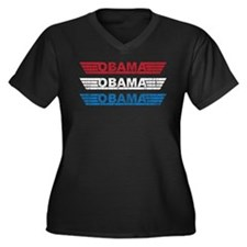 Vintage Obama Winged Logo Women's Plus Size V-Neck